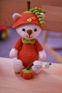 Toys by Alla Chernous: Мишутка в костюмчике тыквы