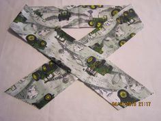 """Extra Wide 3"""" Reusable Non-Toxic Cool Wrap / Neck Cooler  - John Deere - Light Green** by ShawnasSpecialties on Etsy"""