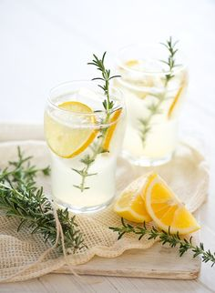 lemonade + rosemary -would make a lovely wedding refreshment