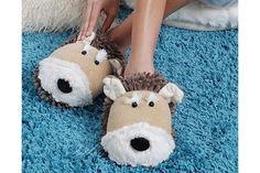 Tan Dog - Fuzzy Friends Slippers
