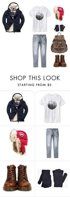 """""""Аляска"""" by inkpunk ❤ liked on Polyvore featuring Superdry, Old Navy, Canada Goose, MANGO MAN, Dr. Martens, BoohooMAN, Wilsons Leather, men's fashion and menswear"""