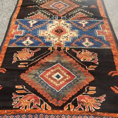 Nomad talisman Moroccan rug  unique flat weave and by berbernation