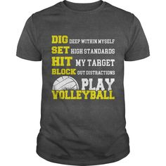 VOLLEYBALL T-SHIRT ==> You want it? #Click_the_image_to_shopping_now