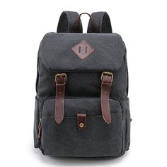Amazon.com | Vintage Canvas School Backpack Laptop Backpack Coffee | Kids' Backpacks