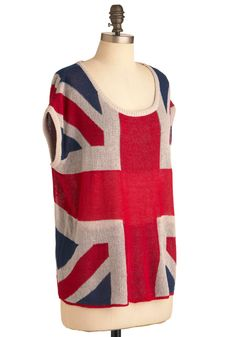 I can't actually buy union jack clothing, can I?  I wish I could!  How adorable is this?