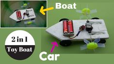 How to Make a 2 in 1 Toy Boat (Boat+Car) - Homemade Toy  #DIYBoat  #ToyBoat  #HomamedeBoat