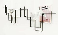 Zeitungshalter Wand Metall Konstruktion