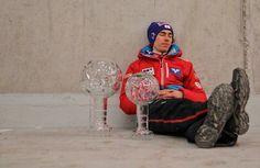 The elation of victory ! It was an amazing season for Stefan Kraft ! Stefan Kraft, Ski Jumping, Skiing, Fangirl, Jumpers, Austria, Sky, Amazing, Sports