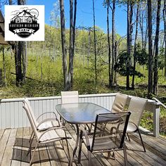 @Northern Michigan Cabin's Mountain View Town House in Bellaire, MI — This 3-bedroom loft cabin is open year-round with stunning seasonal mountain scenery. See the owner's property site for rates and details:
