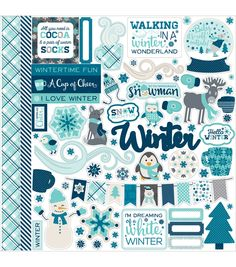 Echo Park Paper Company™ Hello Winter Cardstock Stickers-Element