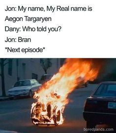 Another day, another Game of Thrones post. Each episode is now so eagerly anticipated the world over that as soon as it airs people get to work analyzing it, discussing it and, inevitably, making memes about it. Game Of Thrones Images, Game Of Thrones Facts, Game Of Thrones Quotes, Game Of Thrones Funny, Valar Morghulis, Orphan Black, Khal Drogo, My Hero Academia Memes, Hero Academia Characters