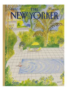 Sempé - The New Yorker cover, 1986