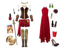 """Pyrrha Nikos-RWBY"" by conquistadorofsorts ❤ liked on Polyvore featuring Madewell, Annelise Michelson, GUINEVERE, Auden, CARAT*, Sam Edelman, Givenchy, Saloni, Sugarpill and Christian Louboutin"
