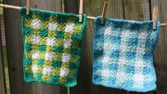 crochet gingham dishcloth | the crochet space                                                                                                                                                      More