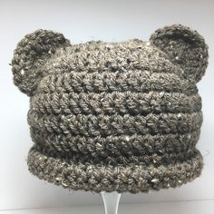 A personal favorite from my Etsy shop https://www.etsy.com/listing/271112253/baby-hat-crochet-baby-hat-baby-bear-hat