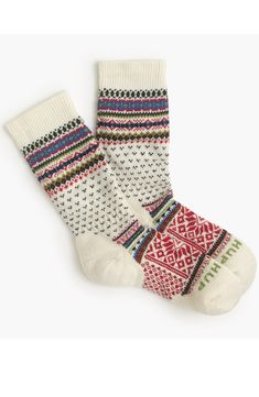 These socks from Tokyo-based Chup are limited edition (seriously, the company makes only a handful each day) and made from moisture-wicking smartwool. Comfy Socks, Cute Socks, Dog Socks, Moisture Wicking Socks, Woolen Socks, Socks And Sandals, Girls Wear, Sock Shoes, Womens Scarves