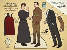 "These ""Downton Abbey"" Paper Dolls Are Just A Masterpiece - would be great for a downton abbey viewing party @Trista Lynn Hertz"