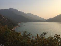 Evening approaching Yi O. 二澳前的黃昏海灣(牙鷹角)。