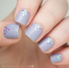 Purple with sparkles