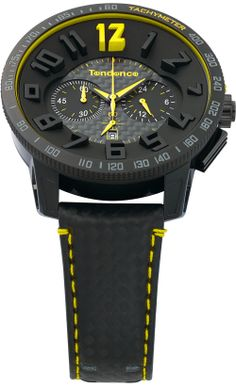 Tendence TGS30002 Carbon Fiber Yellow Watch from Watchismo.com