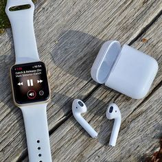 AirPods, the perfect WATCH accessory. #AppleWatch #AirPods