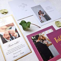 Wedding stationary from ELM Designkollektiv - modern, traditional, bohemian, country chick, colorful – its your choice! Visit elmdesign.no // Alle trykksaker til bryllup og andre begivenheter fra ELM Designkollektiv - moderne, tradisjonsrikt, minimalistisk, bohemsk, landlig, fargerikt – ditt valg! Besøk oss på elmdesign.no Your Cards, Thank You Cards, Polaroid Film, Frame, Design, Decor, Appreciation Cards, Picture Frame, Decoration