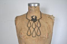 Boho Ethnic Necklace / 1970s / metal by badbabyvintage on Etsy