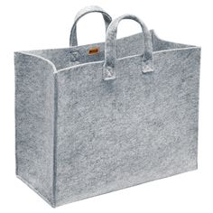 Terrific Pics bags material design Ideas , , The Meno tote allows multi-functionality and everyday use. The simple design is made of a durable felt and is ideal for storage and transport. Polyester felt material keeps it lightweight. Fabric Bins, Large Bags, Bag Storage, Storage Containers, Food Storage, Travel Bags, Shopping Bag, Purses, Sewing