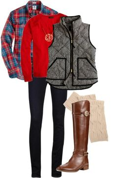 Winter Winds by jalo14 featuring a puff vest ❤ liked on...
