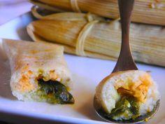 Homemade Cheese and Pepper Tamales Vegetarian