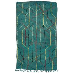 """Vintage Moroccan Wool Rug 4'9""""x7'10"""" (2.957.100 COP) ❤ liked on Polyvore"""