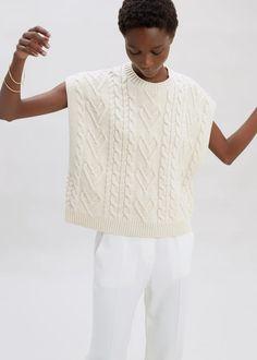 Poncho Tops, Long Summer Dresses, Oversized Coat, Gauze Fabric, Sheer Fabrics, Cable Knit Sweaters, Rib Knit, Knitwear, Women Wear