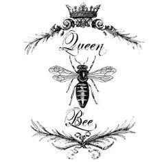 queen bee stencil - Google Search