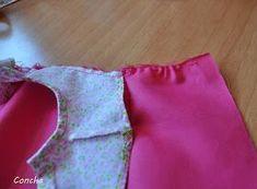 Os propongo hacer este vestido. Aparece en el catálogo del año 81 con el número 12. Empezamos cortando el canesú con una tela estampada...