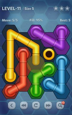 Free Download Pipe Lines : Hexa v 2.1.5 APK + Hack MOD (Hints) For android Hack Cheat MOD Samsung HTC Nexus LG Sony Nokia Tablets and More
