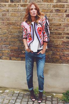 Millie Mackintosh styling up our Cassie Boyfriend jeans. Available now in store and online at riverisland.com. #riverisland #RIdenim
