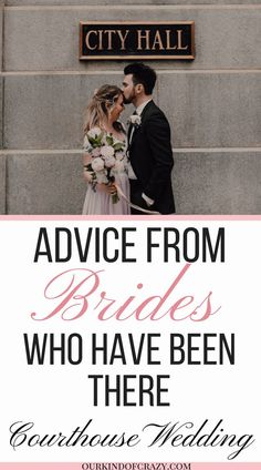 Wedding Planning Advice from Brides who have been there. How to have a Courthouse Wedding Advice. Looking for Wedding Advice, or Advice from Brides? You've come to the right place. Get Wedding Planning ideas, wedding planning checklists, and all your wedding advice from these brides who have already been married, and planned their own big day. #wedding #weddingplanning #advice