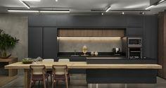 56 clever storage ideas for a small kitchen 25 Rustic Kitchen Design, Contemporary Kitchen Design, Interior Design Kitchen, Open Plan Kitchen Living Room, Home Decor Kitchen, Home Kitchens, Home Room Design, House Design, Craftsman Kitchen