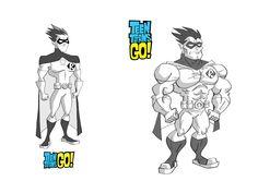 Artes de Teen Titans Go!, por Chris Battle | THECAB - The Concept Art Blog