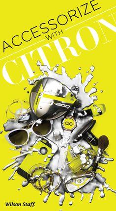Citron Accessories . Design . Splatter . Watch . Jewelry . Fashion . Golf . Women . Female . Citron . Athletic . Style . Wilson Staff . Neon .