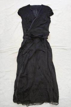 wool/silk wrap dress