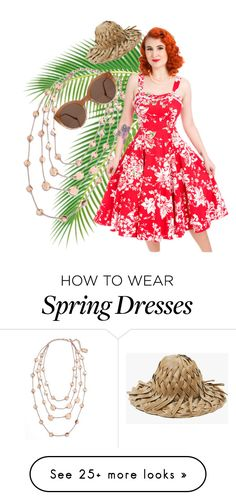 """Spring 2"" by rockabillypinup on Polyvore featuring Karine Sultan and Illesteva"