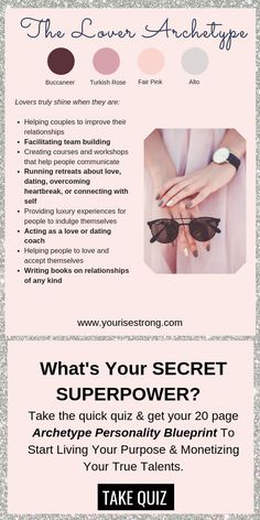 """Take the quiz to receive your page """"Soul Brand Blueprint"""". Discover Your Natural Talents That Lead To Your Profitable Life Purpose Personality Archetypes, Brand Archetypes, Superpower Quiz, Bring Me To Life, Passion Quotes, Relationship Books, Themes Photo, Dating Coach, Good Heart"""