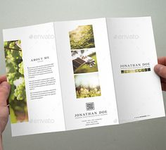 Photography Tri-Fold Brochure Template Are you a professional photographer? If so, then you should use this Photography Tri-Fold Brochure design to showcase recent photos and promote yourself. You have potential to accomplish and achieve your desired goal in your life.