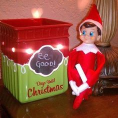 The Elf on the shelf ~Elf with 'Tis the Season' warmer!