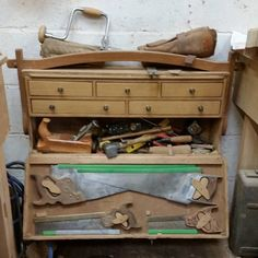 Richard Merrin's toolbox at Merrin Joinery #tools #carpentry #joinery #woodworking www.merrinjoinery.com