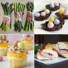 2012_04_05-BOOKMARKED  • Roasted Prosciutto Wrapped Asparagus Bundles - Skinnytaste.  • Chocolate Easter Egg Nests - Life and Kitchen.  • Bird's Nest Cupcakes - Taste and Tell.  • Ham and Havarti Panini with Jalapeno Butter - livelovepasta.