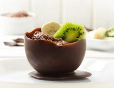 Schokoschalen - Rezept - ichkoche.at Nutella, Trifle Desserts, Pudding, Low Carb, Party, Vegetarian Desserts, Hot Chocolate, Finger Food, Dessert Ideas
