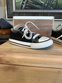 Kids All-star Converse Toddler 7 Black White All Star Low Chuck Taylor 7J235  | eBay