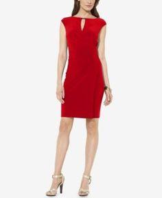 Lauren Ralph Lauren Jersey Boat Neck Dress - Lakehouse Red 10